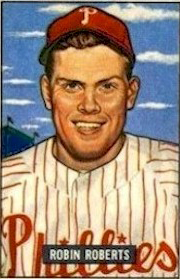 Robin Roberts won 138 games  between 1950 and 1955 for the Phillies.