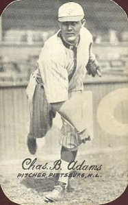 "Fans figured that the 1909 World Series would be a battle between Ty Cobb and Honus Wagner.  The real star of the Series was ""Babe"" Adams."