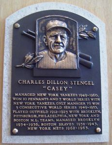 Stengel was inducted into the Hall of Fame in 1966.