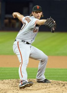 The pitcher above, Madison Bumgarner, is doing a pretty good impression of the pitcher below, Christy Mathewson.