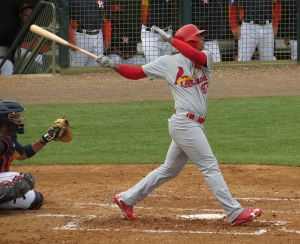 Oscar Taveras shows off the swing that made him one of baseball's top prospects.