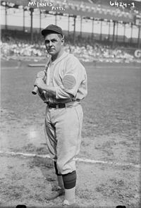 The player shown above was the first to celebrate on a World Series winner in both the American and National leagues.