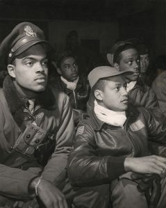 Toni Frissell photo/The Tuskegee Airmen compiled an impressive record during World War II.    The group was awarded a collective Congressional Medal of Honor in 2009.