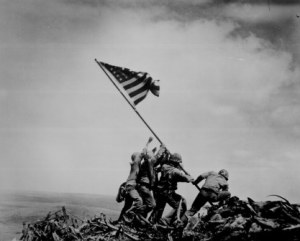 Joe Rosenthal photo/Rosenthal's photo of the Iwo Jima flag raising won the 1945 Pulitzer Prize for photography.