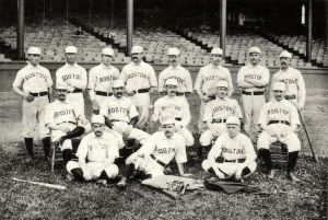 The 1888 Boston Beaneaters pose for posterity.