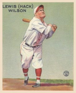 Hack Wilson drove in a record 190 runs in 1930 for the Chicago Cubs.