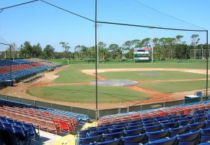 Bernard Gagnon photo/The Dodgers played their home games at Holman Stadium while playing at Dodgertown in Vero Beach, Fla.