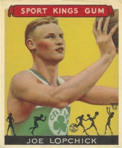 Joe Lopchick played for the Celtics before embarking on a coaching career with the Knicks.