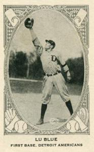 First baseman Lu Blue played seven seasons with the Detroit Tigers.