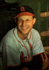 The Cardinals' Stan Musial played in 24 All-Star games in his career, tied with Hank Aaron and Willie Mays for the most.