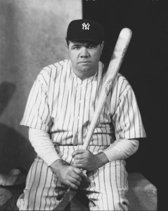 Babe Ruth hit 714 home runs in his big-league career, 659 as a Yankee.
