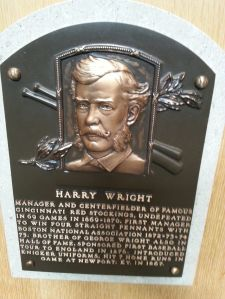 Harry Wright organized, managed and played for the Cincinnati Red Stockings.