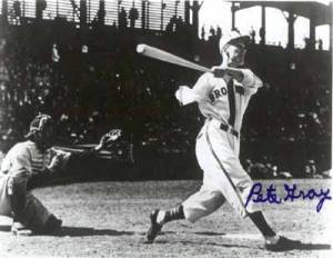 Pete Gray hit .218 for the St. Louis Browns in 1945.