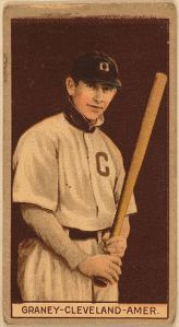Jack Graney, a native Canadian, played his entire big league career in Cleveland.  Later, he broadcast Indians games.