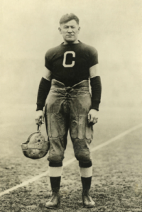 The great Jim Thorpe suits up for the old Canton Bulldogs.