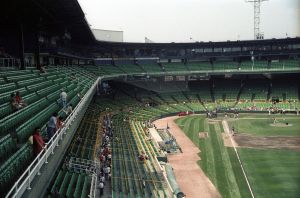 Vomiskey Park, opened on this date in 1901, served as home of the White Sox until 1991.