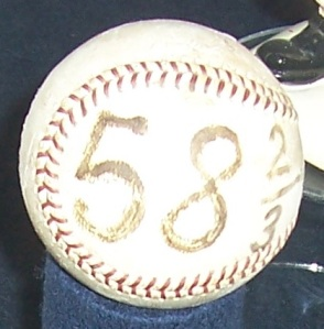 PM800 photo/This is the game ball that Drysdale used to record the final out in his record scoreless streak in 1968.