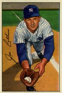 The Yanks' Joe Collins hit two home runs in Game 1 of the 1955 World Series against the Dodgers.