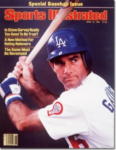 Steve Garvey - Loas Angeles Dodgers April 12, 1982 X 26493 credit:  Heinz Kluetmeier - staff