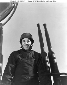 Bob Feller served aboard the U.S.S. Alabama during World War II.
