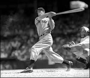 Joe DiMaggio win the first of his three A.L. MVP awards in 1939.