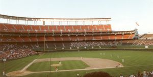 Keith Last photo/Jack Murphy Stadium (originally, San Diego Stadium, served as home of the Padres from 1969 through 2003.