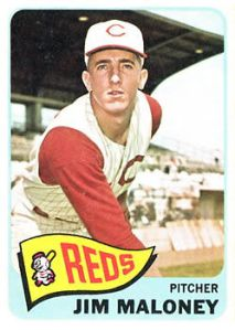 Reds hurler Jim Maloney struck out a career-high 265 batters in 1963.
