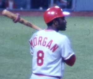 Joe Morgan won back-to-back MVPs in 1975-76 for the Cincinnati Reds. The Big Red Machine won the World Series both seasons.