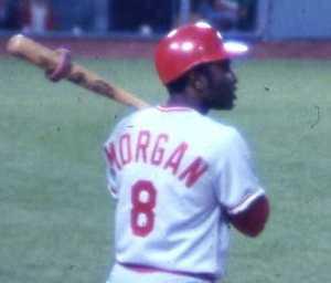 Joe Morgan won back-to-back MVPs in 1975-76 for the Cincinnati Reds. The Big Red Machine won the World Series both seasons.